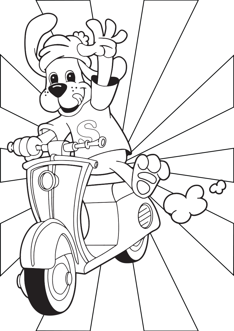 Colouring sheet